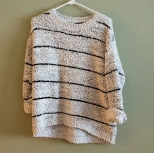 Oversized White, Grey, Black Fuzzy Sweater